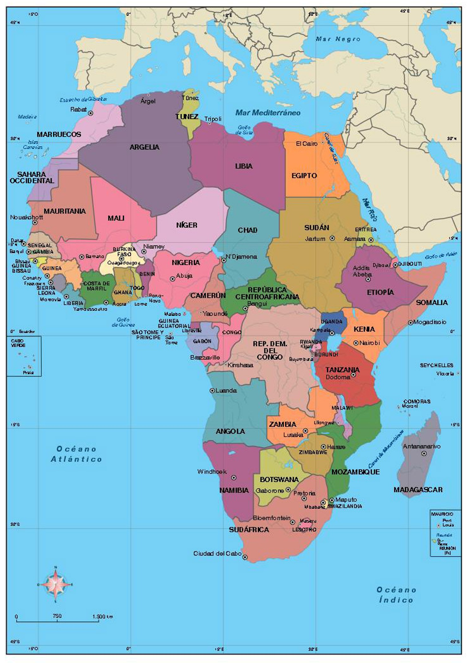 Modern Africa Map | Jackenjuul